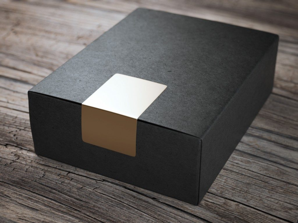 matte black premium packaging